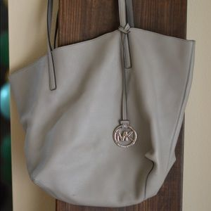 Gray large Michael Kors tote bag
